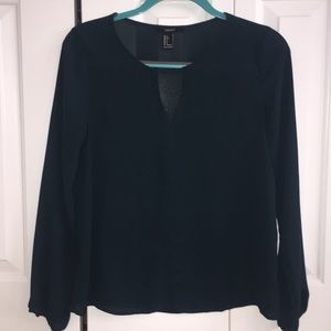 Forever 21 Key Hole Long Sleeve Top